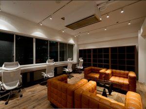 休憩スペース(新宿のオフィスビル)